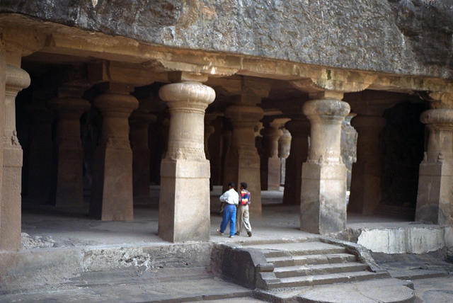 The main cave on Elephanta Island, Mumbai.