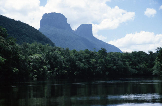 Wei Tepui from the Carrao River, Venezuela.