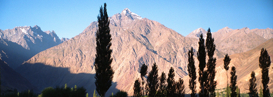 Early morning sunshine on the mountains at Sandhi, Pakistan